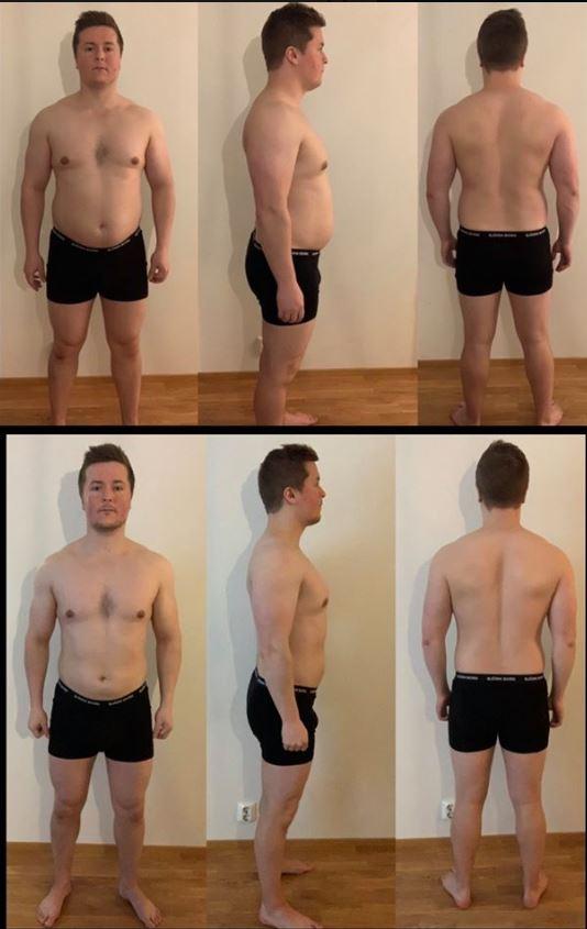 kuukauden laihdutus tulokset